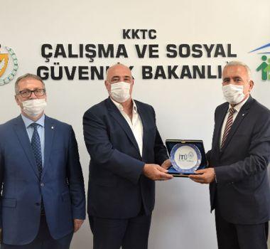 KKTC Çalışma ve Sosyal Güvenlik Bakanlığı'na Ziyaret