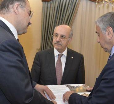 Rektörler Cumhurbaşkanı AKINCI ve Büyükelçi KANBAY ile Görüştü
