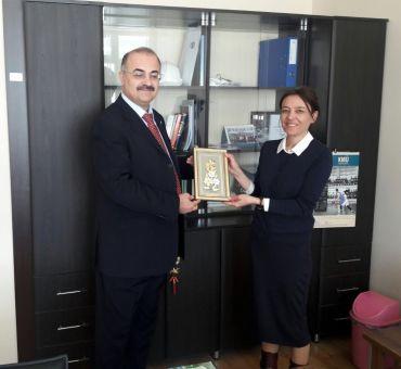 KMÜ Hidrolik Anabilim Dalı Başkanı'na Ziyaret