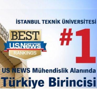ITU Highest Ranked in Turkey at the Field of Engineering