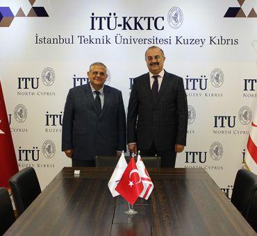 DAÜ Rektörü Prof. Dr. Necdet OSAM İTÜ-KKTC'yi Ziyaret Etti