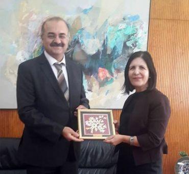 KKTC Cumhuriyet Meclisi Başkanı Dr. Sibel SİBER'e Ziyaret