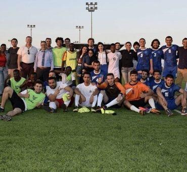 Friendly Game was Played with The University of City Island